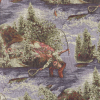 Fishing Scenic Tapestry Fabric -- RH-Angler-NB -- View Larger Image