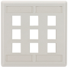 9-port Office White Double-Gang Keystone Wallplate -- WPT486 - Image