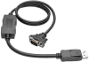 DisplayPort 1.2 to VGA Active Adapter Cable, DP with Latches to HD15 (M/M), 1920x1200/1080p, 3 ft. -- P581-003-VGA-V2 - Image