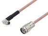 SMA Male Right Angle to TNC Male Cable 60 Inch Length Using RG142 Coax -- PE3W06829-60 -Image