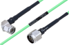 Temperature Conditioned TNC Male Right Angle to N Male Low Loss Cable 8 Inch Length Using PE-P160LL Coax -- PE3M0216-8 -Image