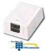 Panduit® Mini-Com Shuttered Surface Mount Boxes -- CBXS1-A