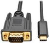 USB 3.1 Gen 1 USB-C to VGA Adapter Cable (M/M), Thunderbolt 3 Compatible, 1920 x 1200 (1080p), 16 ft. -- U444-016-V - Image