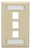 GigaStation2 Wallplate, 3-Port Single-Gang, Ivory -- WPT466 -Image