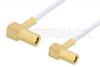 SSMB Plug Right Angle to SSMB Plug Right Angle Cable 12 Inch Length Using RG196 Coax -- PE3134-12 -Image