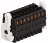 Female connector; with ejectors; 9x2-pole -- 713-1109/037-000