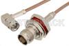 SMA Male Right Angle to TNC Female Bulkhead Cable 48 Inch Length Using RG316 Coax -- PE33073-48 -Image