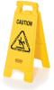 Rubbermaid 2 and 4-Sided Floor Signs with Multi-Lingual Imprints -- 8068 - Image