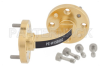 WR-15 Instrumentation Grade Waveguide H-Bend with UG-385/U Flange Operating from 50 GHz to 75 GHz -- PE-W15B002 -Image