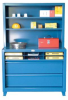 Book Case Shelving Unit with Drawers -- 4.15-CSU-243-2DB-PT - Image