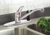 BAYVIEW KITCHEN FAUCET WITH SPRAY ON DECK CHROME FINISH -- IBI711173