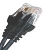 CAT6 550MHZ ETHERNET PATCH CORD BLACK 1 FT -- 26-264-12 -Image