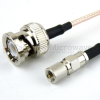BNC Male to 10-32 Male Cable RG-316 Coax in 12 Inch -- FMC0810315-12 - Image
