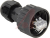 Micro-Change (M12) Threaded, RJ45 Ethernet Field-Attachable Connector -- 70069114