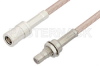 SMB Plug to SMB Jack Bulkhead Cable 24 Inch Length Using RG316 Coax -- PE33680-24