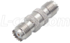 Coaxial Adapter, Mini-UHF Female / Female -- BA476 - Image