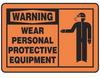 Warning Sign,10 x 14In,BK/ORN,PLSTC,ENG -- 8DJW0