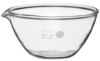 Corning Pyrex Borosilicate Glass Evaporating Dish with F - Image