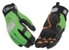 Mechanics Gloves,HiVis Grn/Blk/Orng,L,PR -- 6PPF8
