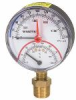 Lead Free* Combination Pressure and Temperature Gauge, Bottom-Entry -- LFDPTG-1
