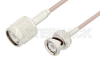 TNC Male to BNC Male Cable 72 Inch Length Using RG316 Coax -- PE3C3393-72 -Image