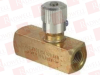 PARKER SPN400B ( DISCONTINUED BY MANUFACTURER, 1/4 INCH NEEDLE VALVE, MAX 2000 PSI, 138 BAR ) -Image