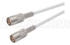 RG188 Coaxial Cable, SMB Plug / Plug, 4.0 ft -- CCSB188A-4 -Image