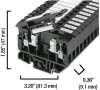 4 square mm Fuse Terminal Block -- 1492-H4 - Image