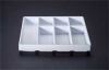 Cart,7Shelf,Wht/Clr HDPE/ABS/Acrylic,Lg -- 50212