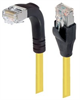 Category 5E Shielded Right Angle Patch Cable, Straight/Right Angle Down, Yellow 3.0 ft -- TRD815SRA1Y-3 -Image
