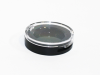 small round compact with clear top -- 449PE-HF147