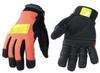 Mechanics Gloves,Hi Vis Orange,L,PR -- 8NAC4