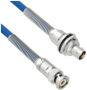 Halogen Free Cable Assembly TRB 3-Slot Plug to Insulated Bulk Head 3-Lug Cable Jack with Bend Reliefs MIL-STD-1553 .242