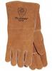 Tillman Brown Split Cowhide Kevlar/Leather Welding Glove - Reinforced Thumb - 14 in Length - 608134-10100 -- 608134-10100