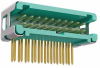 10+10 Pos. Male DIL Horizontal Throughboard Conn. no Latches (T+R) -- G125-MH12005L7R - Image