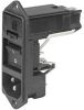 Power entry module without line filter,Screw Panel, 1pole, rocker switch -- 70080549