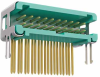 10+10 Pos. Male DIL Horizontal Throughboard Conn. no Latches -- G125-MH22005L6P -- View Larger Image