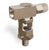 "Inverted Angle Heavy Duty Sight Feed Valve, 3/8"" Female NPT Inlet, 3/8"" Male NPT Outlet, Tamperproof -- B743-5 -Image"