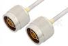 N Male to N Male Cable 36 Inch Length Using PE-SR402AL Coax -- PE34138LF-36 -Image