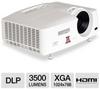Mitsubishi XD560U XGA 3D DLP Projector - 3500 ANSI Lumens, 1 -- XD560U