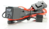 H4 MOTORCYCLE HID RELAY WIRING HARNESS DUAL OUTPUT HIGH LOW BEAM HEADLIGHT SYSTEM -- H4_MC_RELAY_HARNESS
