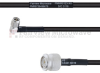 RA SMA Male to TNC Male MIL-DTL-17 Cable M17/28-RG58 Coax in 12 Inch -- FMHR0123-12 -Image