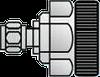Coaxial Adapter - APC-7 to SMA (Male) -- Agilent 11533A