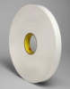 3M 4462 White Foam Mounting Tape - 2 in Width x 72 yd Length - 31 mil Thick - 23492 -- 051115-23492 -- View Larger Image