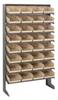 Bins & Systems - 4'' Shelf Bins (QSB Series) - Sloped Shelving Units - Single Sided Pick Racks - QPRS-107 - Image