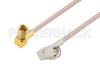 SMA Male Right Angle to SSMC Plug Right Angle Cable 6 Inch Length Using RG316 Coax -- PE3C4408-6 -Image