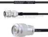 SMA Male to TNC Male MIL-DTL-17 Cable M17/119-RG174 Coax in 100 cm -- FMHR0111-100CM -Image