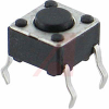 Switch, Sub-Mini Tactile, 0.169 Height,6x6MM, 50MA@12VDC, 130 Operating Force -- 70128182