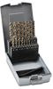 Jobber Drill Bit Set: HSS-Co5, 1.0 to 10.0mm diameter, 19-pc -- 215214RO