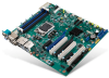 LGA 1151 Intel® Xeon® E3 V5 ATX Server Board with 6 SATA III, 4 PCIe Gen III, 6 USB 3.0, 3 Displays, Quad/Dual LANs -- ASMB-785 -Image